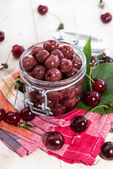 Portion of pickled Cherries — Stock Photo