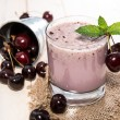 Stock Photo: Cherry Milkshake