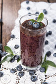 Healthy Blueberry Shake — Stock Photo