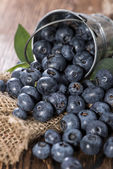 Some Blueberries in a small Bucket — Stock Photo