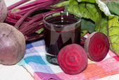Beetroot Juice in a glass — Stock Photo
