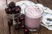 Homemade Cherry Shake — Stock Photo