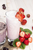 Fresh made Milkshakes — Stock Photo