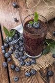 Fresh made Blueberry Smoothie — Stock Photo
