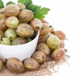 Isolated Gooseberries — Stock Photo