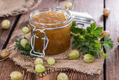 Gooseberry Jam in a glass — Stock Photo