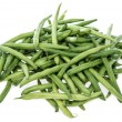 Green Beans on white — Stock Photo