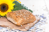 Fresh made Bun with Seeds — Stock Photo
