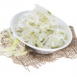 Coleslaw on white — Stock Photo