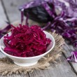 Stock Photo: Fresh made red Coleslaw
