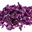 Isolated Red Coleslaw — Stock Photo