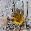 Bottle with Sunflower Oil — Stock Photo