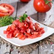Portion of Tomatoe Salad — Stock Photo