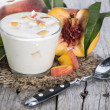Fresh made Peach Yogurt — Foto de Stock