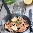 Shrimps in skillet — Stock Photo #31213923