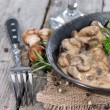 Mushrooms with Cream Sauce — Stock Photo