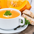 Pumpkin Creme Soup — Stock Photo