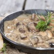 Mushrooms in Cream Sauce — Stock Photo