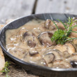 Mushrooms in Cream Sauce — Stock Photo #31456171