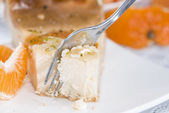 Plate with Cheese Cake — Stock Photo