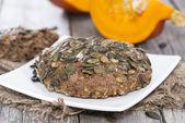 Homemade Bun with Pumpkin Seeds — Stock Photo