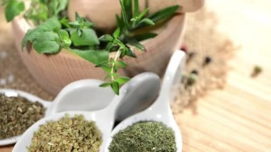 Rotating Herbs — Stock Video