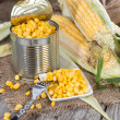 Stock Photo: Preserved Sweetcorn