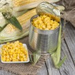 Stock Photo: Portion of preserved Sweetcorn