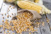 Bag with dried Sweetcorn — Stock Photo