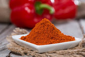 Portion of Paprika Powder — Stok fotoğraf