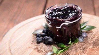 Fresh made Blueberry Jam — Stock Video