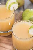 Portion of Pear juice — Stock fotografie