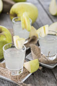 Shots (Apple Liqueur) — Stock Photo