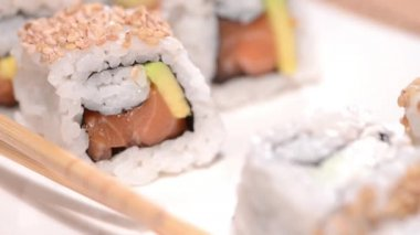 Portion of Sushi — Stock Video