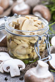 Canned Mushrooms — Stock Photo