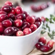 Portion of fresh Cranberries — Stock Photo