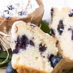 Blueberry Muffin (Macro Shot) — Stock Photo