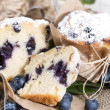 Halved Blueberry Muffin — Stock Photo #35181685