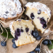 Stock Photo: Blueberry Muffin (Macro Shot)