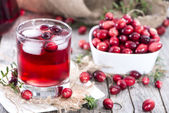 Fresh Cranberry Juice — Stock Photo
