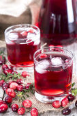 Glass with Cranberry Juice — Stock Photo