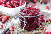 Portion of Cranberry Jam — Stock Photo