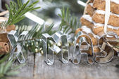 XMAS-Sign — Stock Photo