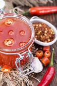 Homemade Chili Sauce — Stock Photo