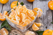 Fresh Tangerine Pieces — Stock Photo