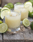 Glass with fresh made Lime Juice — Stock Photo