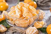 Fresh Tangerine Pieces — Stock Photo