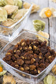 Dried Physalis in a small bowl — Foto Stock