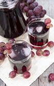 Grape Juice with Ice — Stock Photo