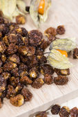 Dried Physalis Fruits — Stock Photo